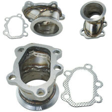"""GT25 GT28 T25 T28 Car Turbo Downpipe 5 Bolt to 2.5"""" with V band Flange Adapter"""