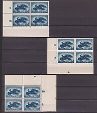 xxx NED. Luchtpost NVPH nr. 14 (24x), 6 versch.hoekrandblokken van 4. Cw. € 96,-