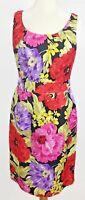 Banana Republic Dress Size 6 Sleeveless Floral Sheath