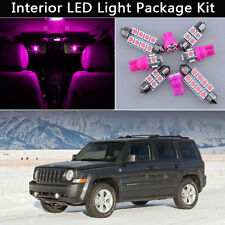 6PCS Bulbs Pink LED Interior Lights Package kit Fit 2007-2015 Jeep Patriot  J1