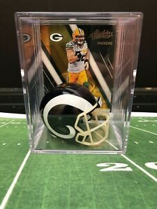 Los Angeles Rams Mini Helmet Shadowbox w/ Clay Matthews card