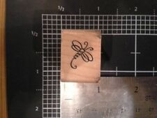 Petite Dragonfly wood mounted Rubber stamp - may be discolored damaged