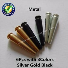 """6Pcs Cribbage Pegs 3Colors Silver Gold Black Professional For 1/8"""" Holes New"""