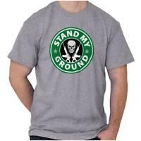 2nd Amendment Gun Rights Stand Your Ground Womens or Mens Crewneck T Shirt Tee