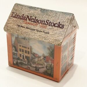 Linda Nelson Stocks Stonewall Visit 100 pc Puzzle House Cottage Box 1999 Sealed