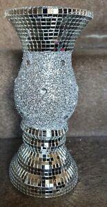 Silver bling vase