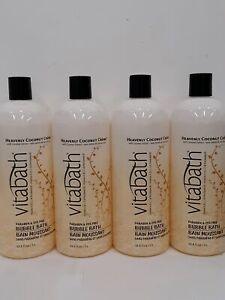 Vitabath Bubble Bath Heavenly Coconut Crème Bubble Bath 33.8z 4 Pack