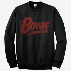 Amplified David Bowie Name Logo Sweatshirt - Band Pullover Crewneck ( S - XXL )