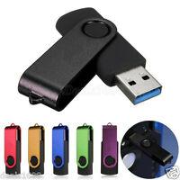 Swivel USB 3.0 128GB Flash Drive Memory Thumb Stick Storage Pen Disk U Disk Lot