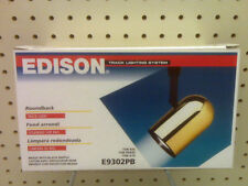 New - Edison Round Back Track Light - E9302Pb - Brass With Black Baffle