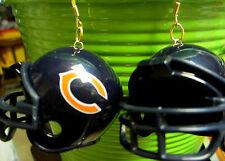 NORA WINN UNIQUE BIG CHICAGO BEARS  EARRINGS 925 NFL FOOTBALL HELMETS