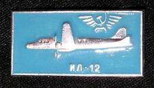 VINTAGE PIN Soviet Airplane USSR Aircraft IL-12