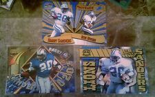 3 DIFF BARRY SANDERS PACIFC 1997 REVOLUTION PROTEGES + PLAYER OF WEEK+GEMS 1996