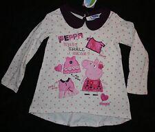 NUEVO niña Tu Peppa Pig Vestido Túnica 2t 3 años 92 98cm what shall I wear