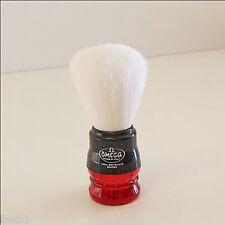 Omega Syntex 100% Synthetic Fiber Mug Soap Brush with Plastic handle  (RED)