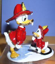 Disney Donald Duck Fireman with nephew duck Huey Figurine