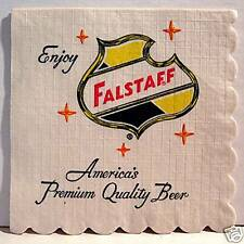 Falstaff Brewing 3 Falstaff Shield Beer Napkin St Louis