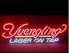 """New Yuengling Lager On Tap Neon Light Sign Home Wall Decor Bar Pub Gift 20""""x16"""""""