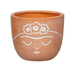 Frida Terracotta Mini Planter Plant Pot Holder Indoor Rustic Small Sass & Belle