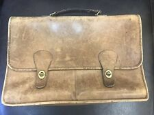 Vintage COACH Pre-Creed Metal Tag New York City Messenger Bag Briefcase Leather