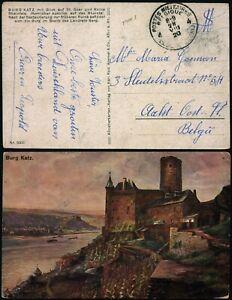M386 Belgium Germany military postage free postcard FPO 4 Alost 1920