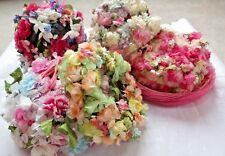 Lot 5 Vtg Ladies Hats w FLOWERY PROFUSION, Mostly Pink, Spring, 2 by ROSAMUNDE