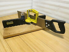 Stanley Mitre Box with Saw Adjustable Angled Cuts Woodworking #19-615