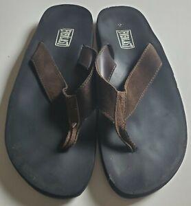 Everlast Men's Black & Brown Thong Flip Flop Sandals Size 12