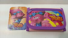 DREAMWORKS TROLLS POPPY PINK KID TRI FOLD ZIPPED WALLET 100% LICENSED PRODUCT