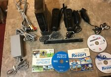 Nintendo Wii Black Console Complete Bundle - Tested Working - FREE SHIPPING