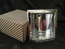 New Old Stock 1960 Recessed Chrome Soap Holder With Clear Insert