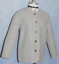 GRAY BOILED WOOL Winter German Cardigan Coat SWEATER M
