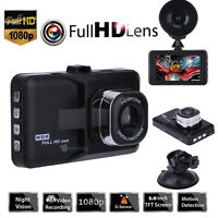 "1080P 3.0"" LCD Car DVR Dash Camera Video Recorder Night Vision G-sensor USB SD"