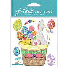 Jolee's Boutique Dimensional Stickers - EASTER BASKET - bunny spring rabbit eggs