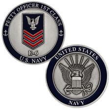NEW U.S. Navy Petty Officer First Class E-6 Challenge Coin.