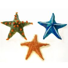 Fiesta Toy Set of 3 Starfish 11'' Blue Orange Green Pet Pillow My Sealife Plush