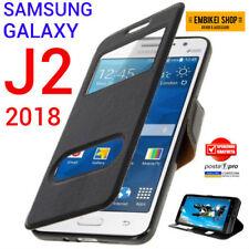 Custodia per Samsung Galaxy J2 2018 Flip Cover Libro Finestra Chiusura Magnetica
