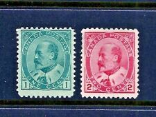 Canada Scott #89-90 Unused ~ Sc CV = $65.00 ~ The 1903+ King Edward VII Issues