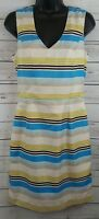 BANANA REPUBLIC Striped Sleeveless Dress Women's Size 4