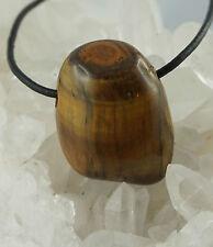 OJO DE TIGRE Colgante Forma Libre perforadas piedra en Tambor preciosas J5