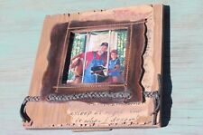 "Shabby Western Rustic Textured Picture Photo Frame, 3"" x 3""  FREE SHIPPING!"