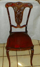Cherry Mother of Pearl Inlaid Desk Chair / Sidechair  (SC121)