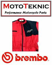 Official Brembo Brakes Expert Overalls Red Size Medium 99000431