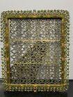 Designer+CIEL+Ornate+Jeweled+Rhinestone+Flower+Picture+Photo+Frame