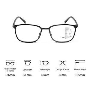Progressive Multifocal Reading Glasses Varifocals Reader Eyeglasses +1.0-+4.0 UK