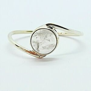 Brand New Sterling Silver 925 Moonstone (Round) Ring, Size T 1/2