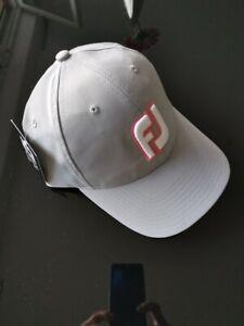 Footjoy Golfcap hellgrau verstellbar  - NEU- UVP 29€