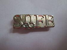 SAFE  Metal Lapel Pin / Vasectomy/ Novelty/ Joke L042