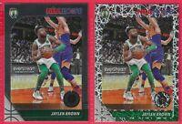 2019-20 NBA Hoops Premium Jalen Brown Laser prizm W/Base Card #7 Boston Celtics
