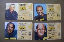 (4) Packer Football Phone Cards (1994) - Lombardi, Starr, Nitchke & Willie Davis